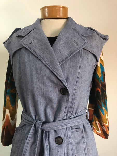 Dress, Denim Jumper, Modern, Sz. Sm.