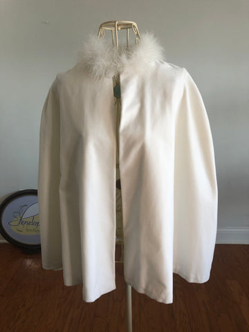 Vintage Velvet Wedding Cape
