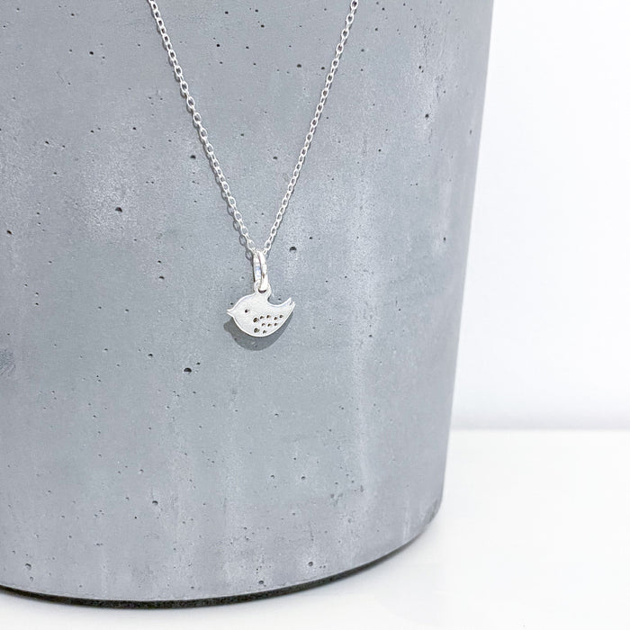 Tiny Bird Charm Necklace