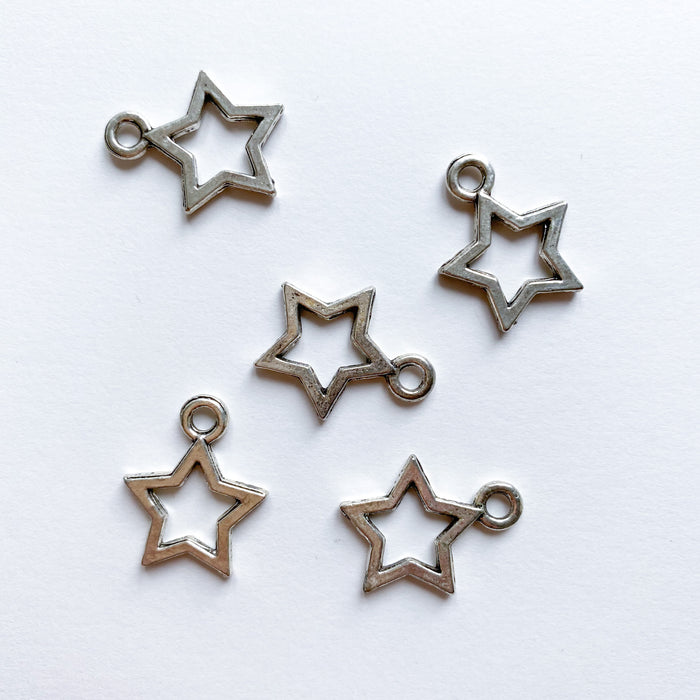 Open Star Charm