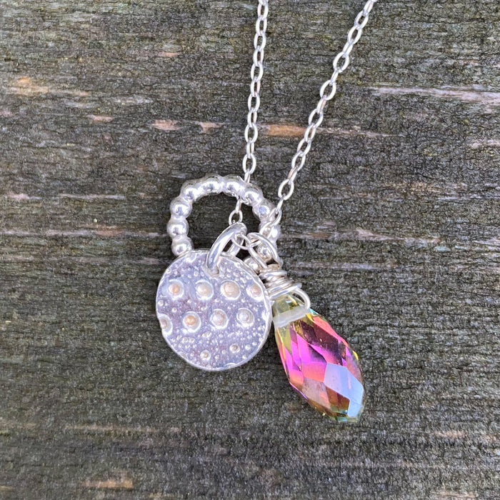 Cluster Necklace - Moon & Crystal