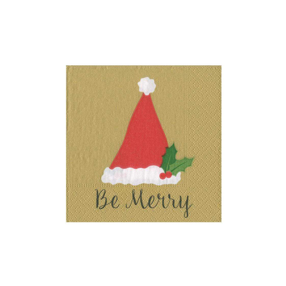 Be Merry Paper Cocktail Napkins