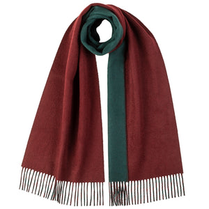 Load image into Gallery viewer, Contrast Reversible Cashmere Scarf