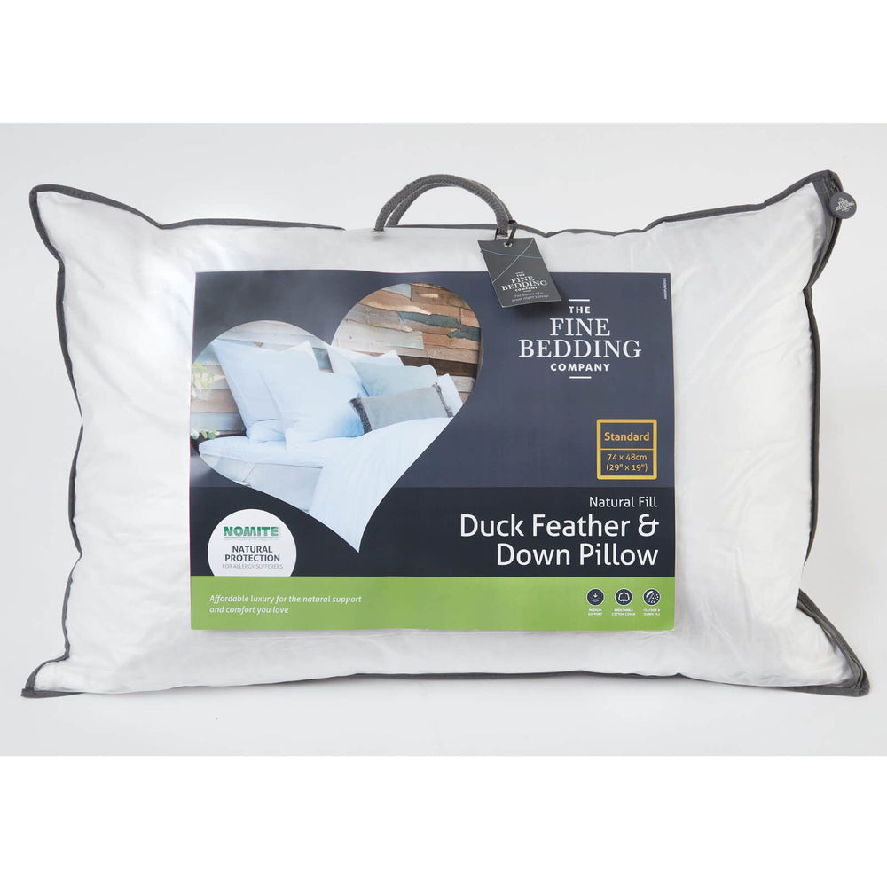 Load image into Gallery viewer, Duck Feather & Down Pillow (Pack of 2)