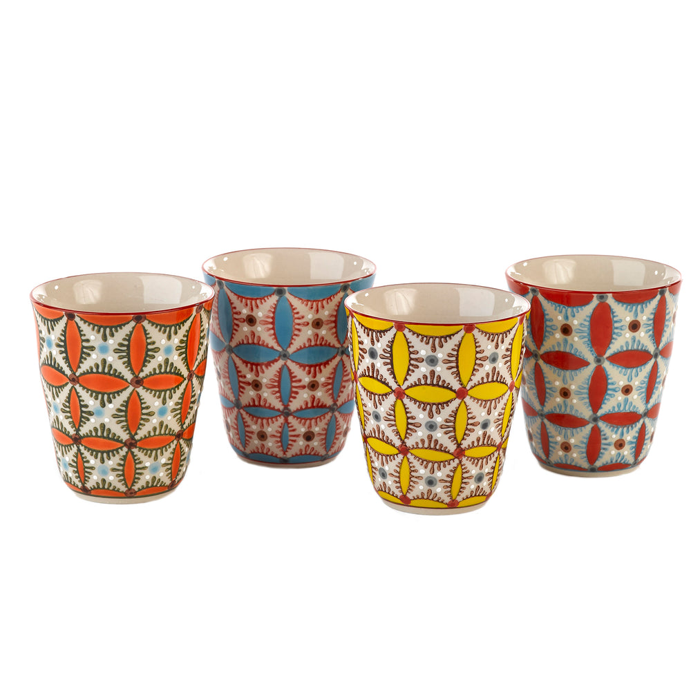 Hippy Cups (Set Of 4)