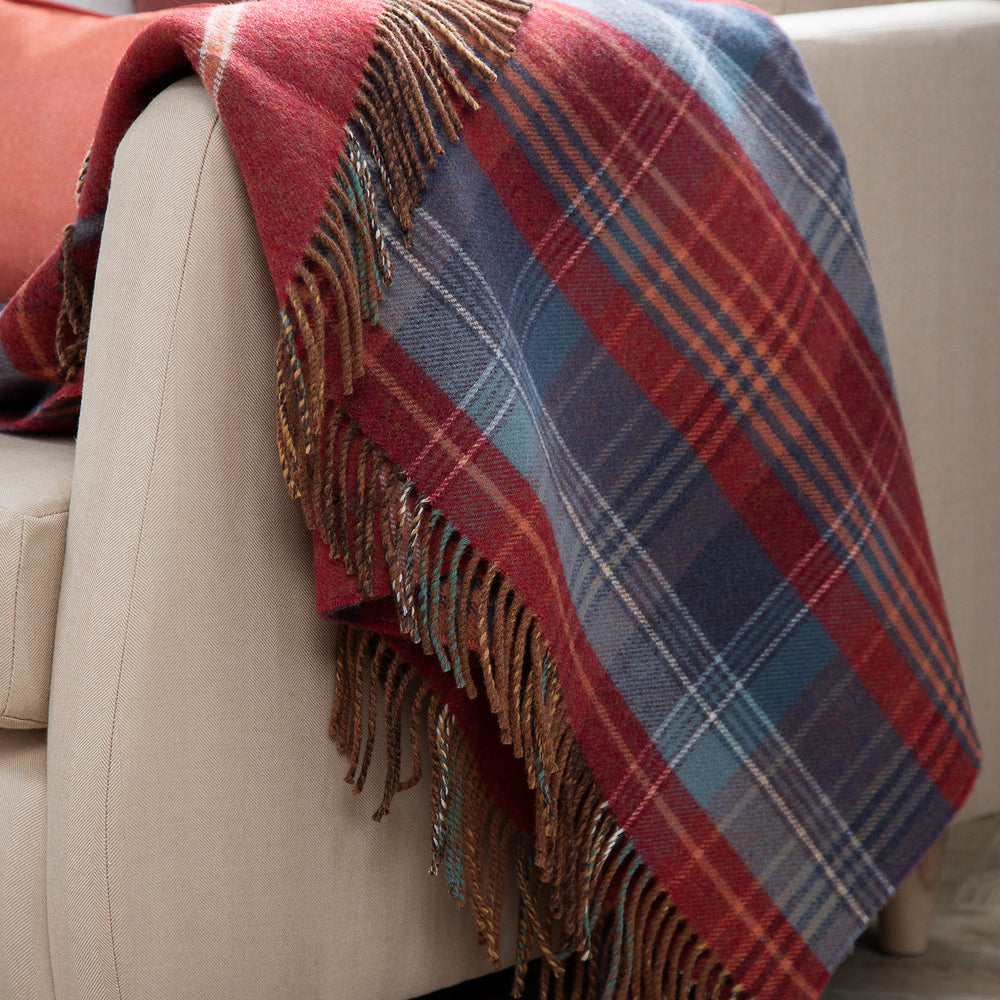 Load image into Gallery viewer, Scottish Heritage Double Face Lambswool Throw