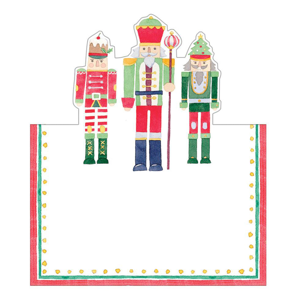 Load image into Gallery viewer, March Of The Nutcrackers Die-Cut Place Cards