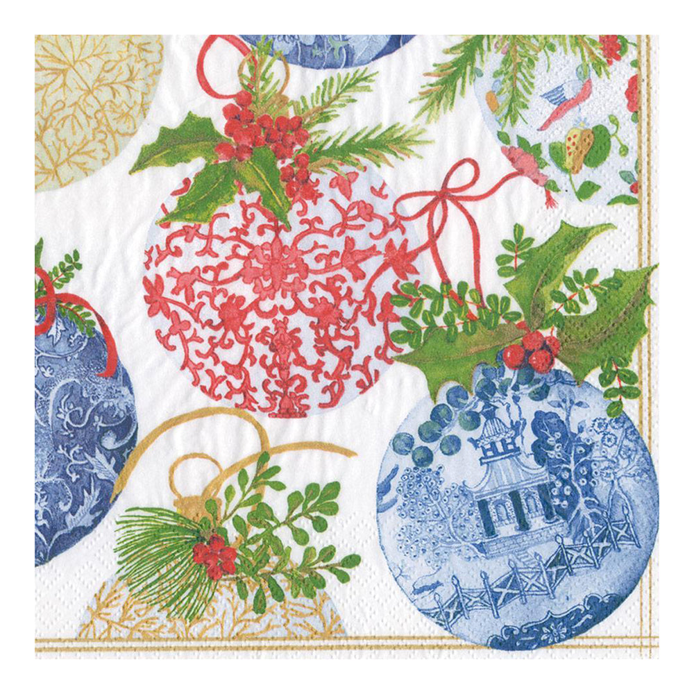 Porcelain Ornaments Paper Dinner Napkins