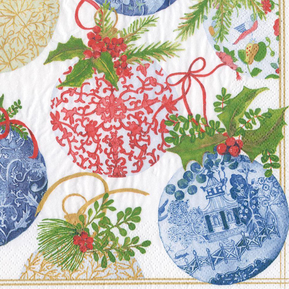 Load image into Gallery viewer, Porcelain Ornaments Paper Dinner Napkins