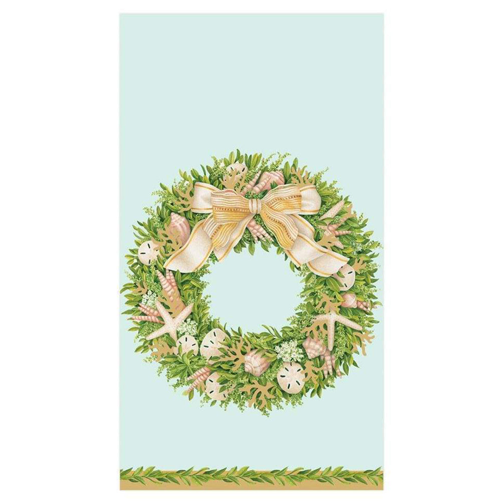Shell Wreath Paper Guest Towel Napkins