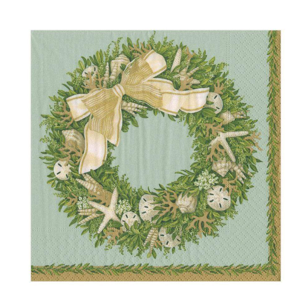 Shell Wreath Paper Lunch Napkins