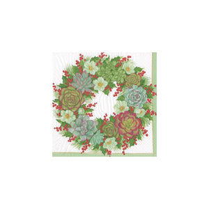 Load image into Gallery viewer, Succulent Wreath Paper Cocktail Napkins
