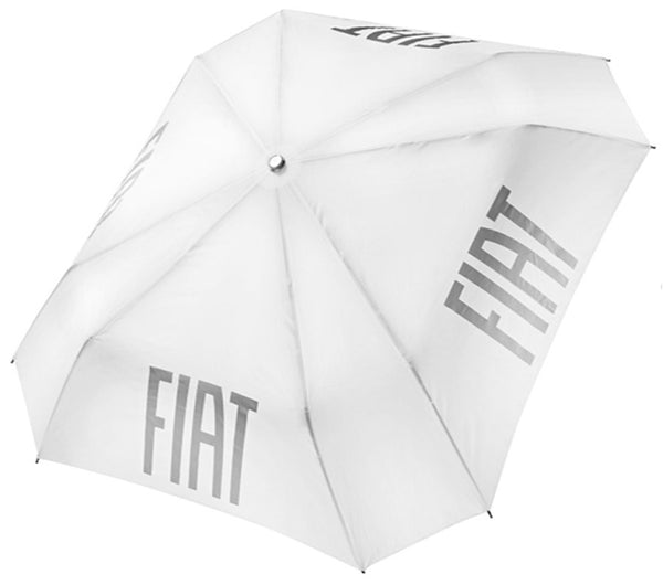 Retractable umbrella Fiat White