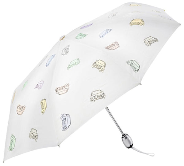 Retractable umbrella 500 white