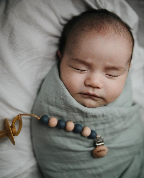 Mushie Organic Cotton Swaddle Blanket