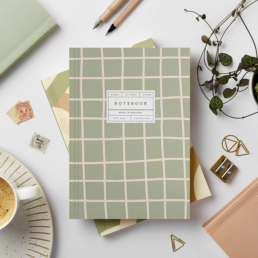 Katie Leamon - Green Grid Notebook