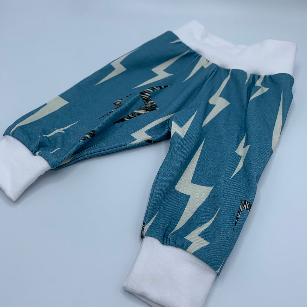 Organic Baby & Toddler Leggings - Lightning
