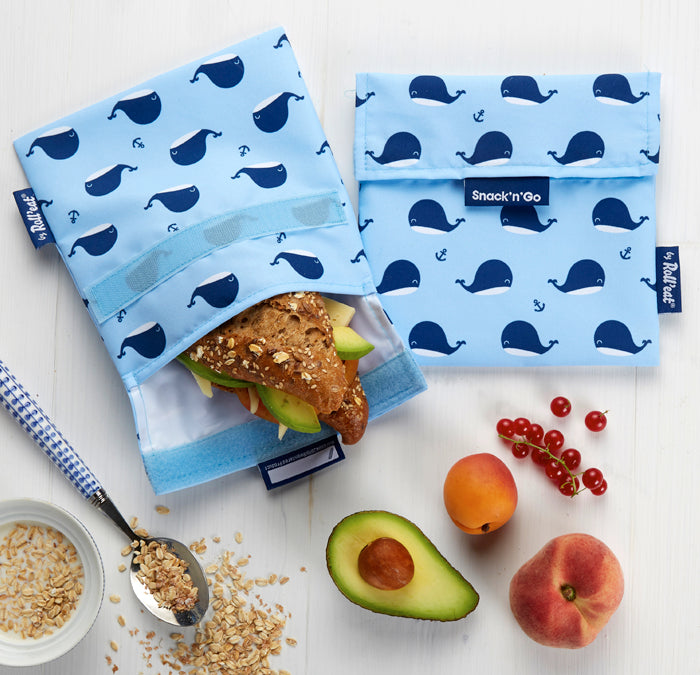 Roll'eat reusable snack bag Whale