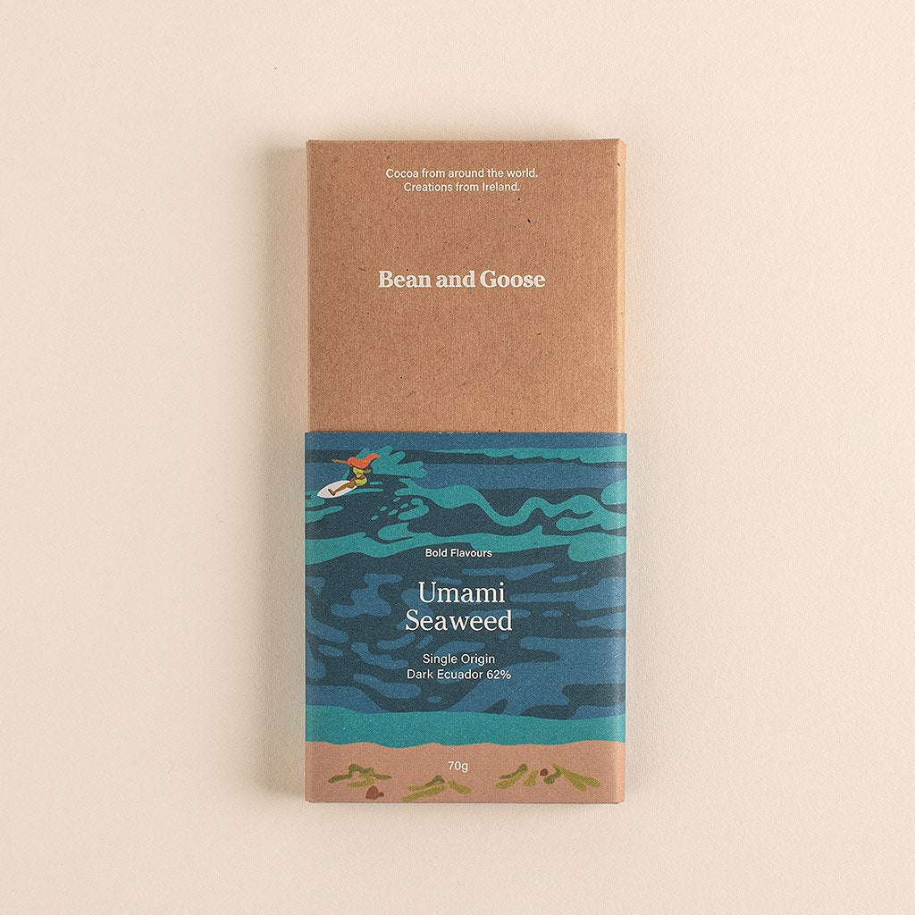 Bean and Goose Unami Seaweed Dark Chocolate Bar
