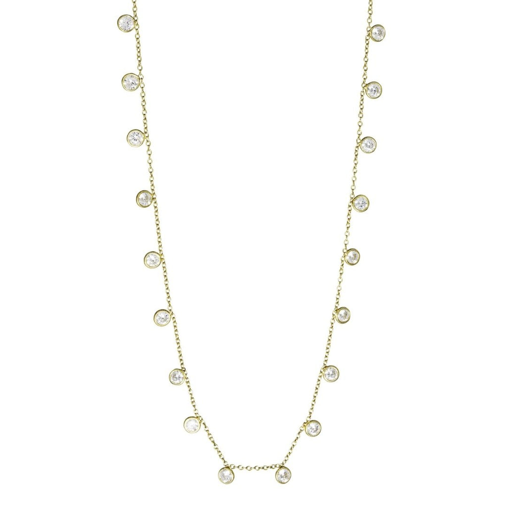 One Dame Lane Drop Cable Charm Necklace 18k gold