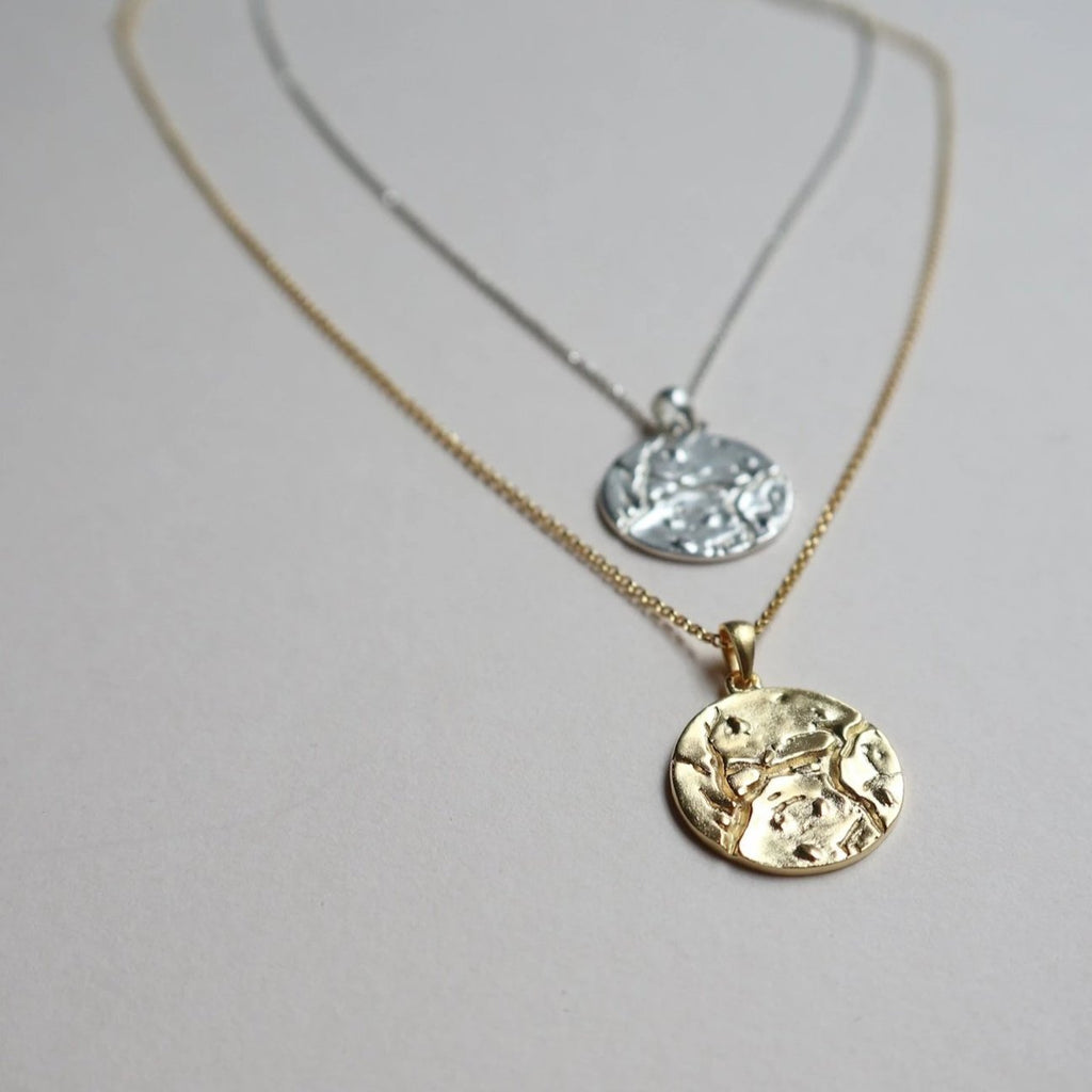 Lines and Current Cosmo Coin Necklace
