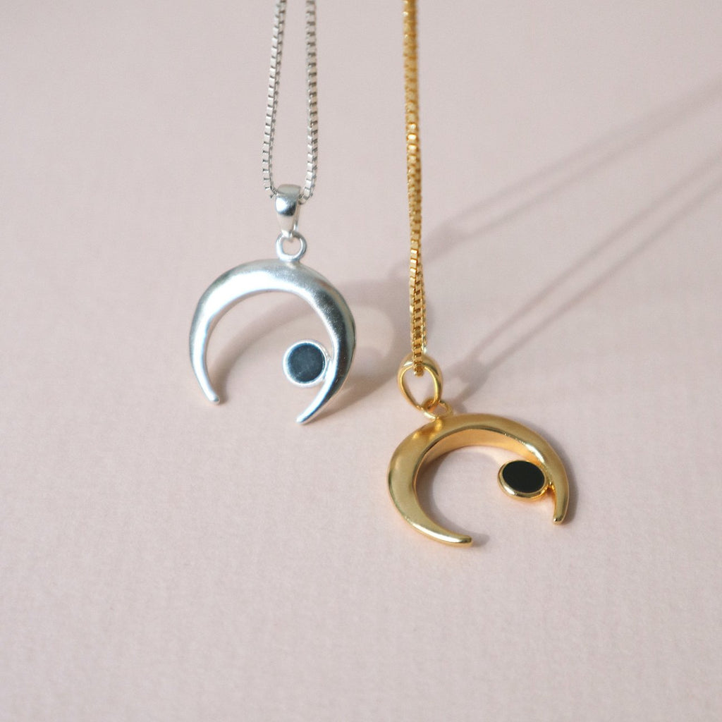 Lines & Current 'Goddess' Moon Chain Necklace