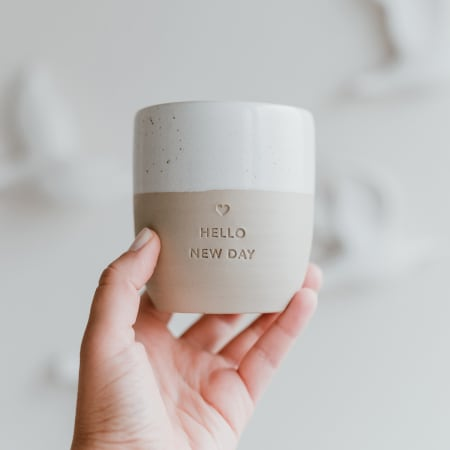 Hello New Day Ceramic Mug