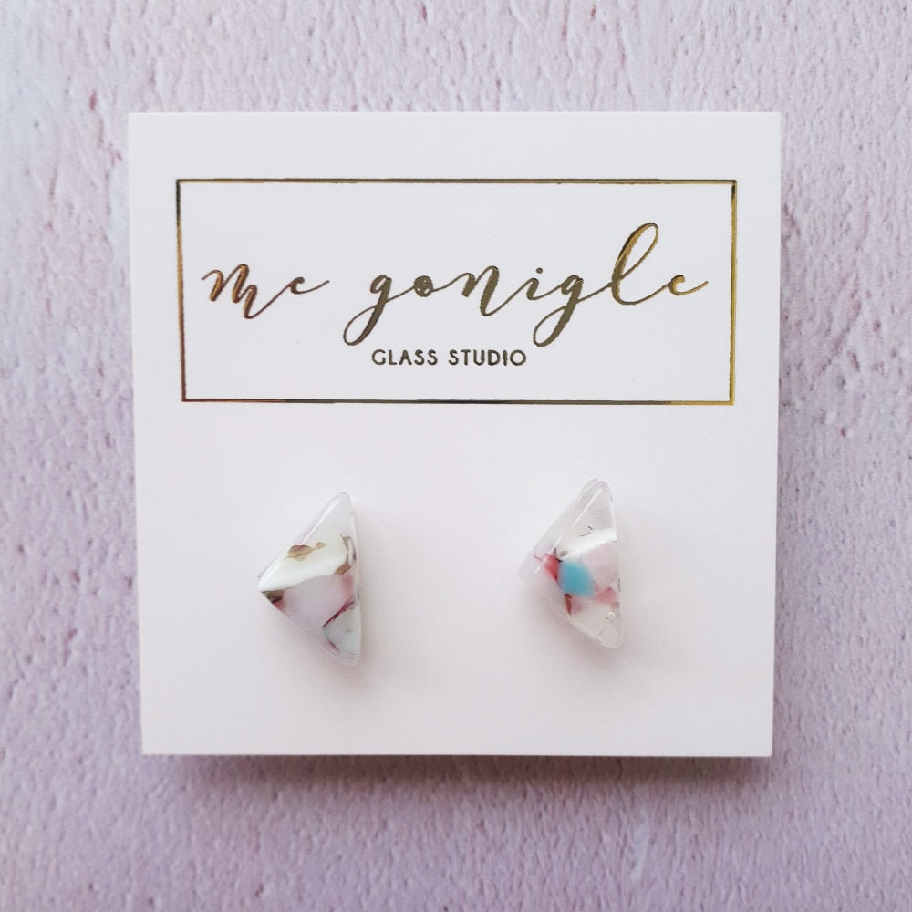 McGonigle Earrings Pastel Geo Studs #1