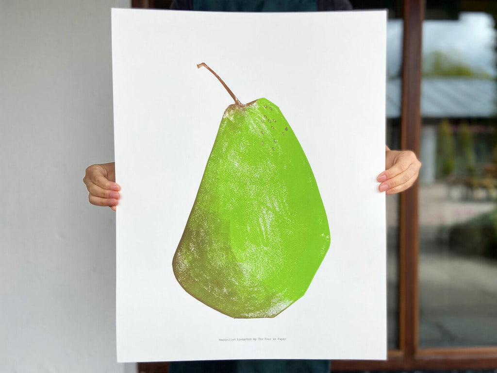 The Pear in Paper Print Large Pear