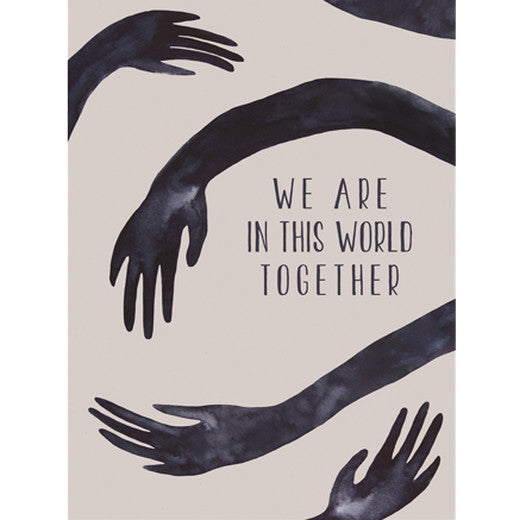 Anna Cosma Postcard we are in this world together