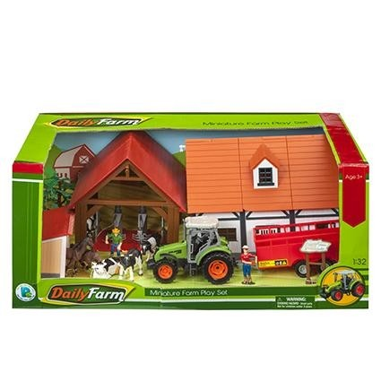 toy planet SET GRANJA C/TRACTOR Y ACCESORIOS E1:32