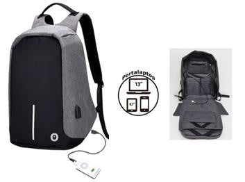 toybags MOCHILA ANTIRROBO ANTI-THEFT GRIS