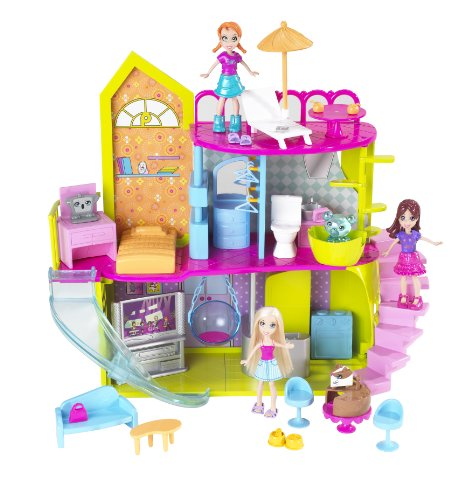 MATTEL POLLY HOUSE PLAYSET T4251
