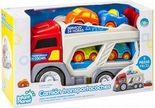 toy planet CAMIÓN INFANTIL 4 VEHICULOS
