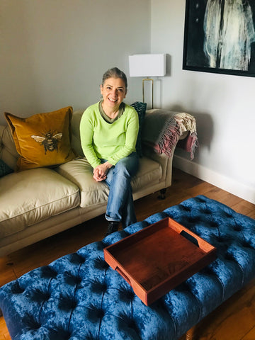 Bespoke Tray image of customer in their home