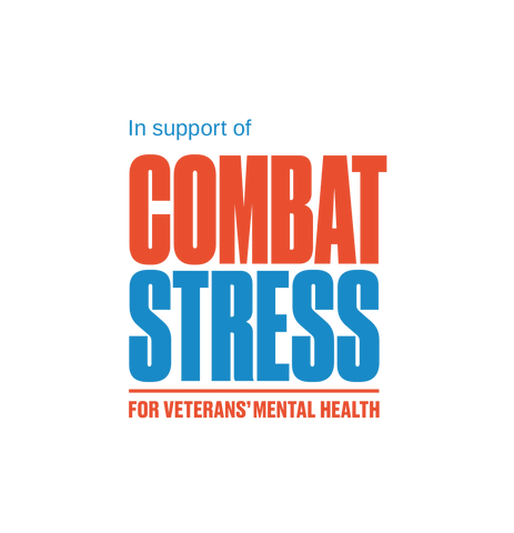 In support of combat stress logo