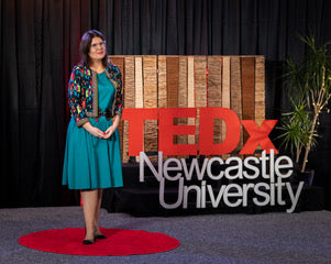 Ashleigh at TEDx Newcastle Imagine a World event