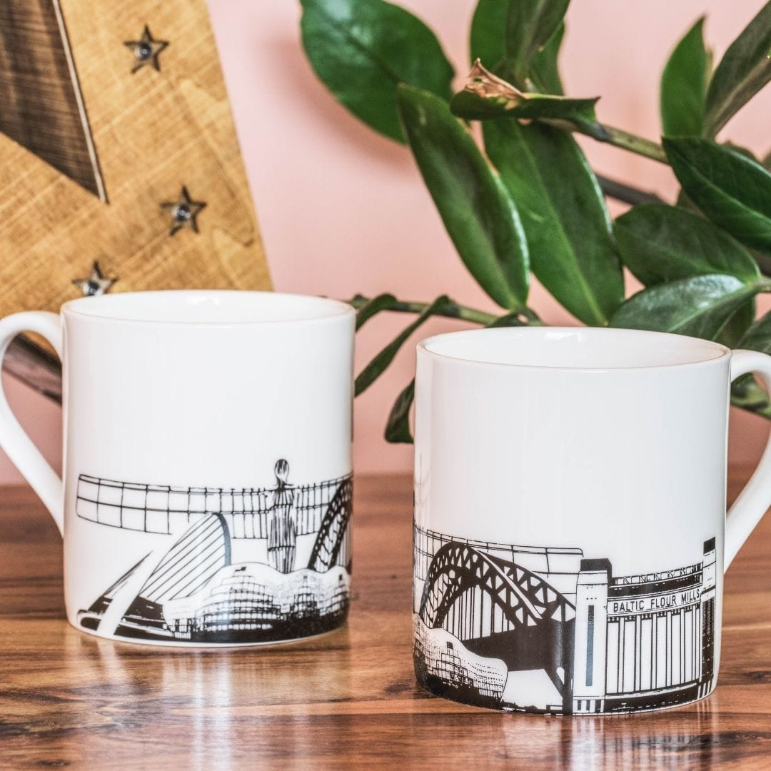 Newcastle Flat Skyline Mug