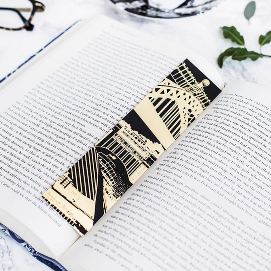 Newcastle Gold Foil Bookmark