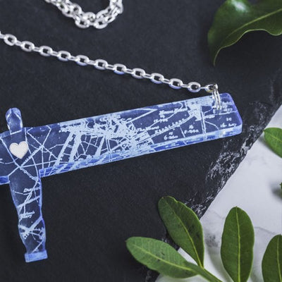 Transparent Angel of the North necklace