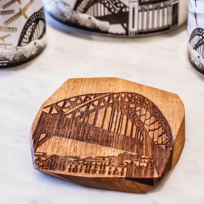 Tyne Bridge wood coaster