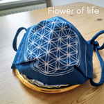 Load image into Gallery viewer, Face mask (M) with Flower of Life