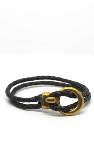 Open Hook Leather Bracelet