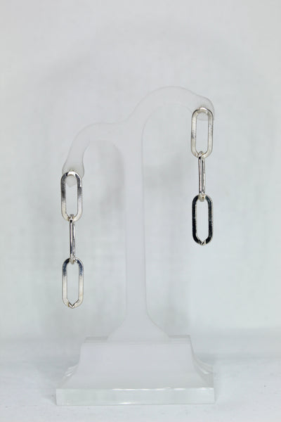 Link Earrings in Sterling Silver