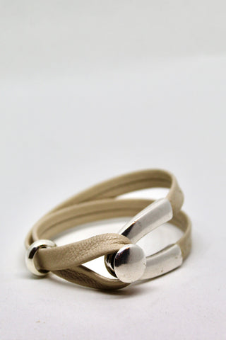 Ecru Leather Bracelet