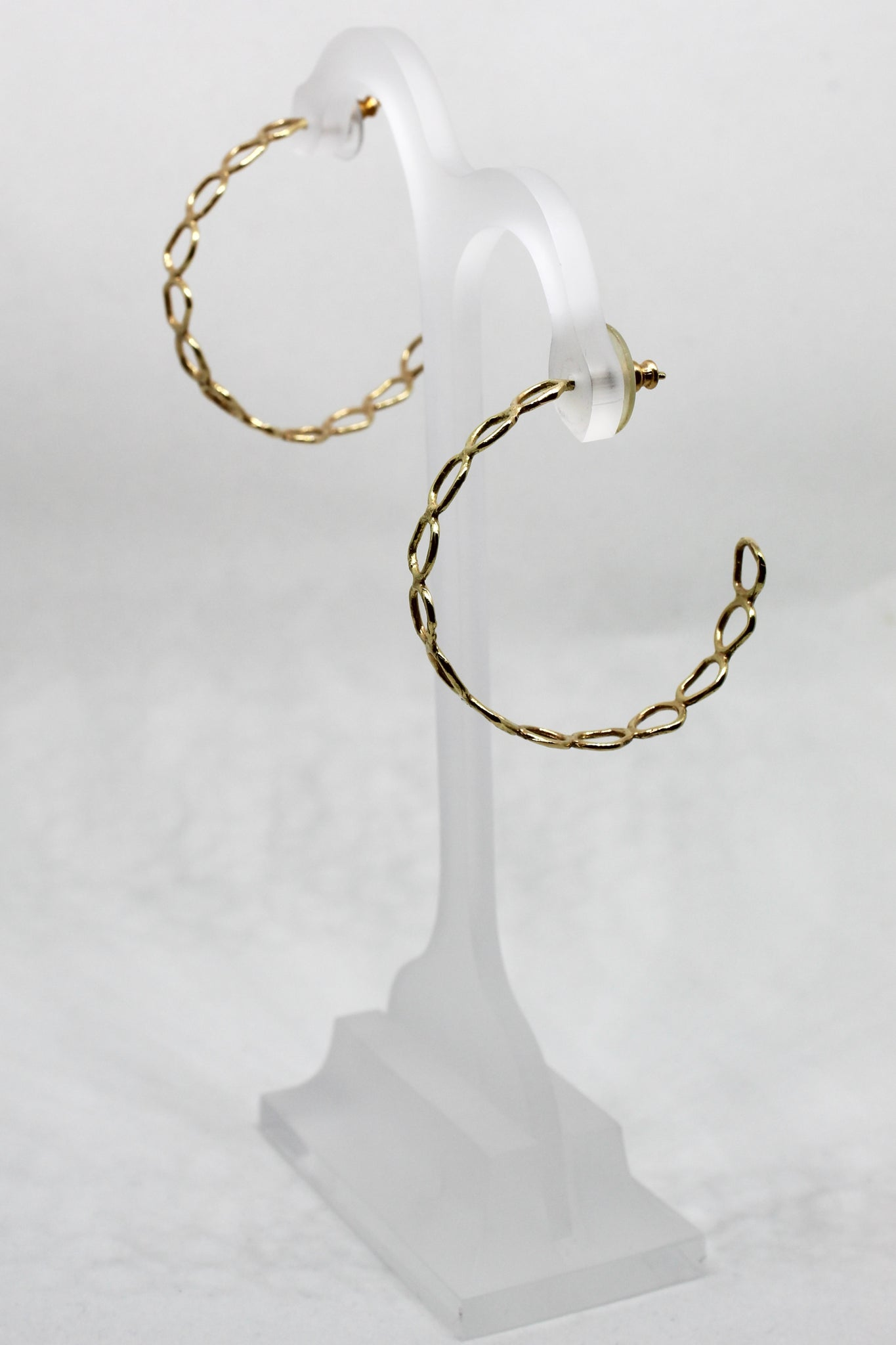 Gold Bubble Hoops