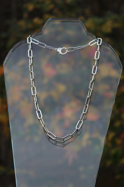 Large Link Sterling Silver Chain