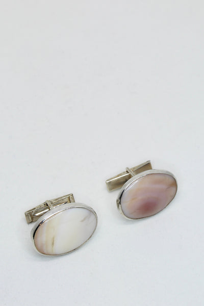 Mother of Pearl Men's Cuff Links