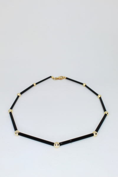 Black and Gold Link Choker