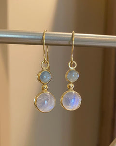 Moonstone and Aquamarine Earrings
